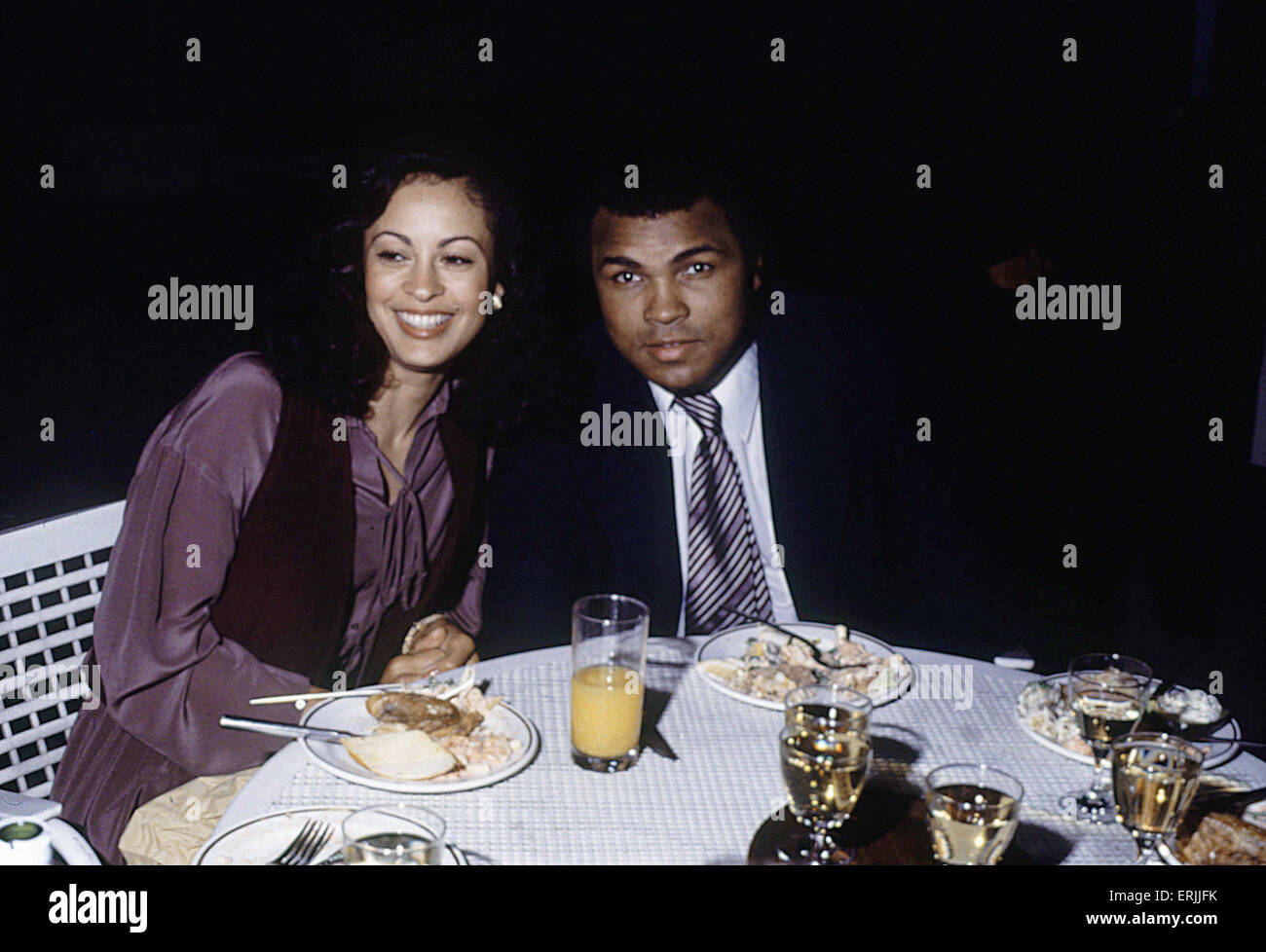 Muhammad ali and second wife veronica at a gala in london 4th june muhammad ali and second wife veronica at a gala in london 4th june 1979 thecheapjerseys Choice Image