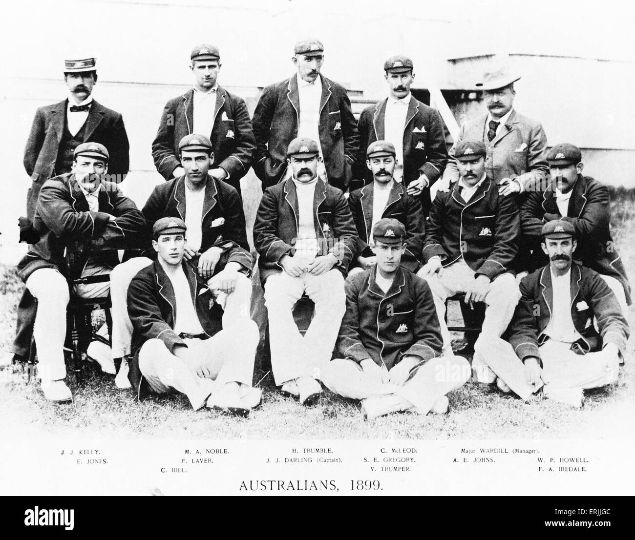 The Australia cricket team of 1899. - Stock Image