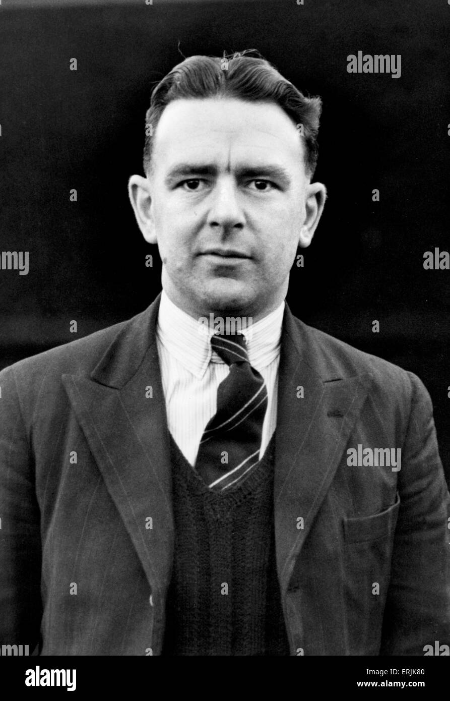 Warwickshire County Cricket Club secretary Leslie Deakins. Circa 1950. - Stock Image