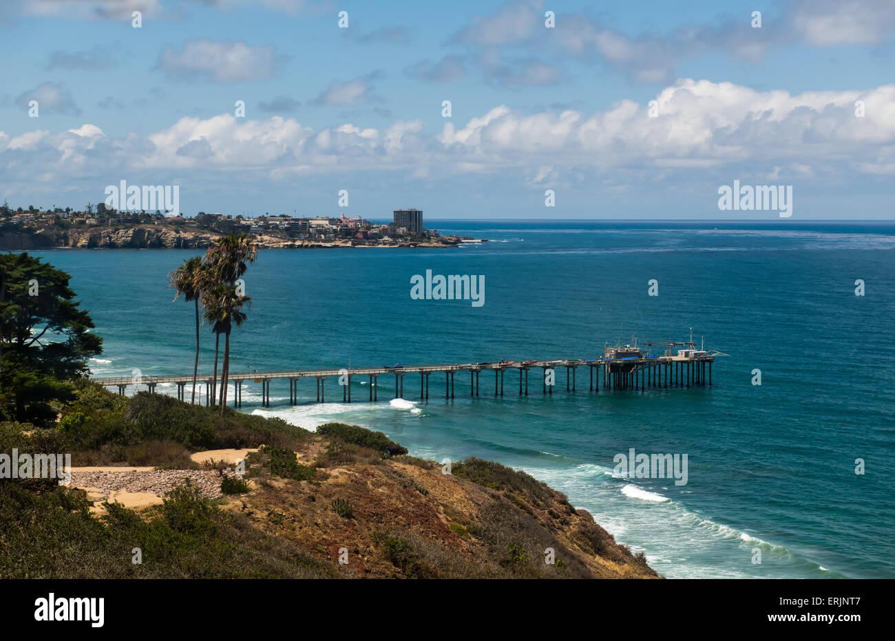 Scripps Pier, La Jolla, Califonia - Stock Image