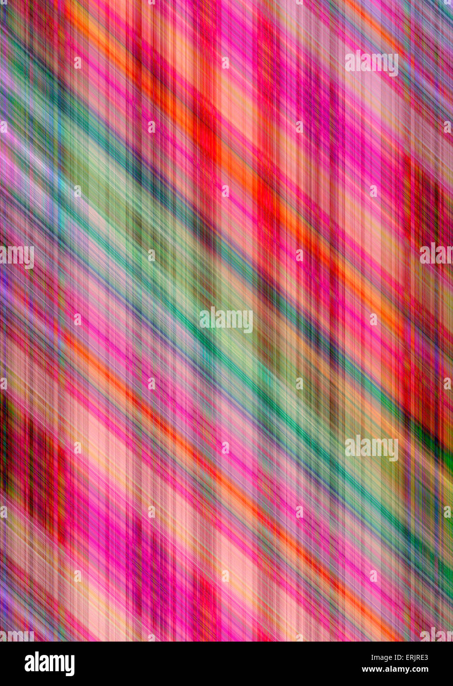 Striped colored background covered with bright oblique lines - Stock Image