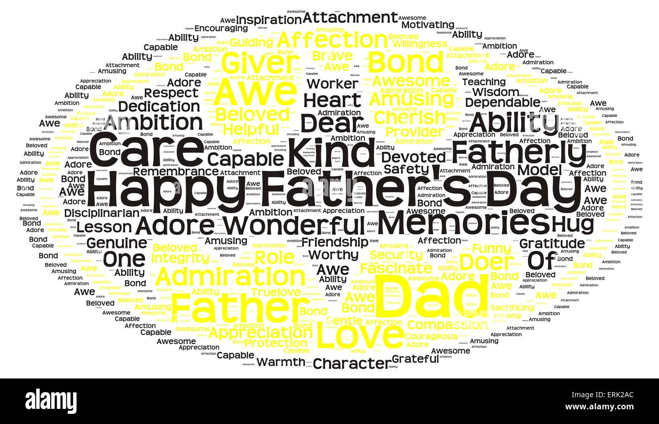 Tag Cloud Of Fathers Day In The Shape Of Batman Symbol Stock Photo