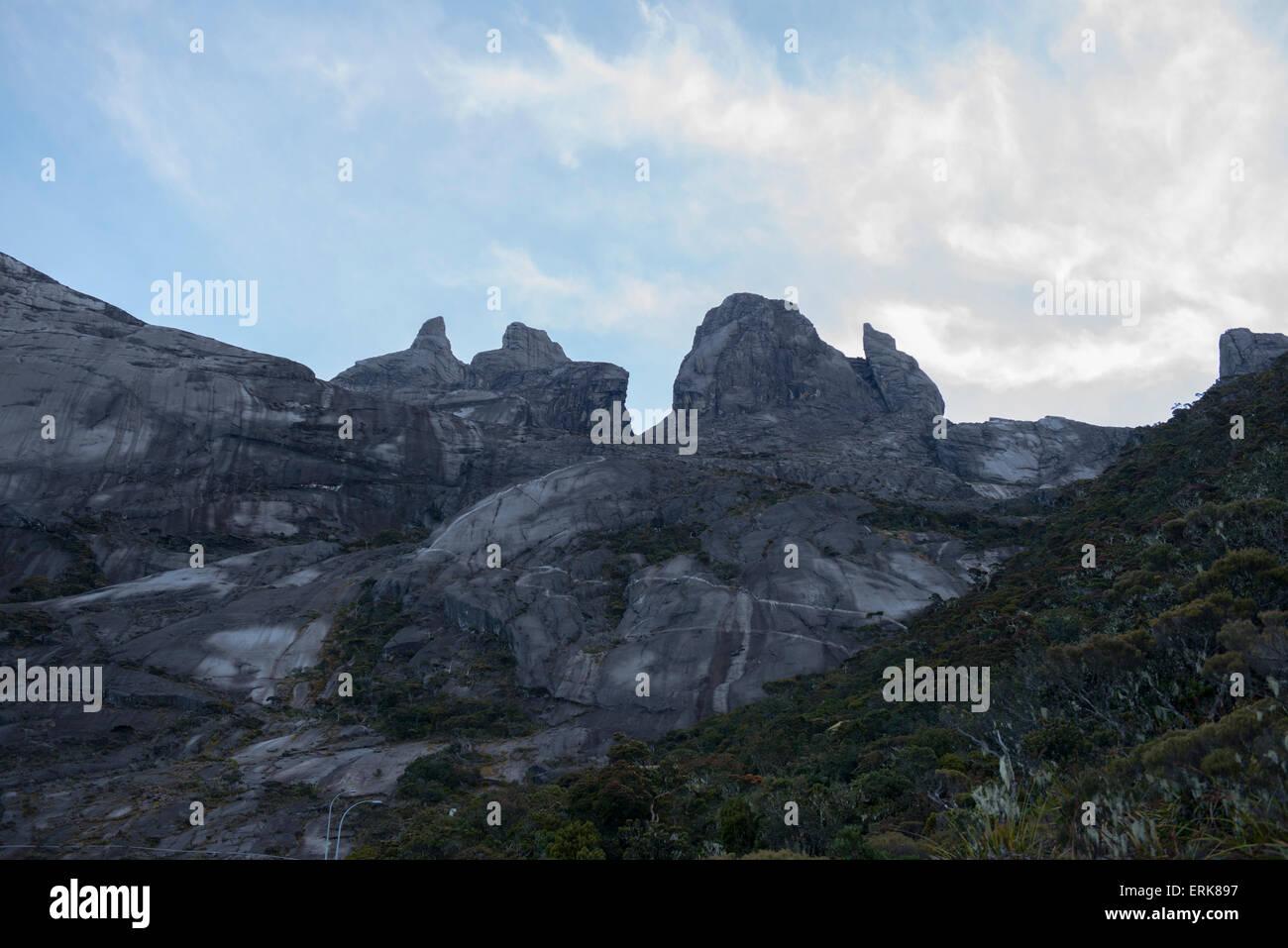 The peak, Mount Kinabalu, Sabah, Borneo, Malaysia - Stock Image