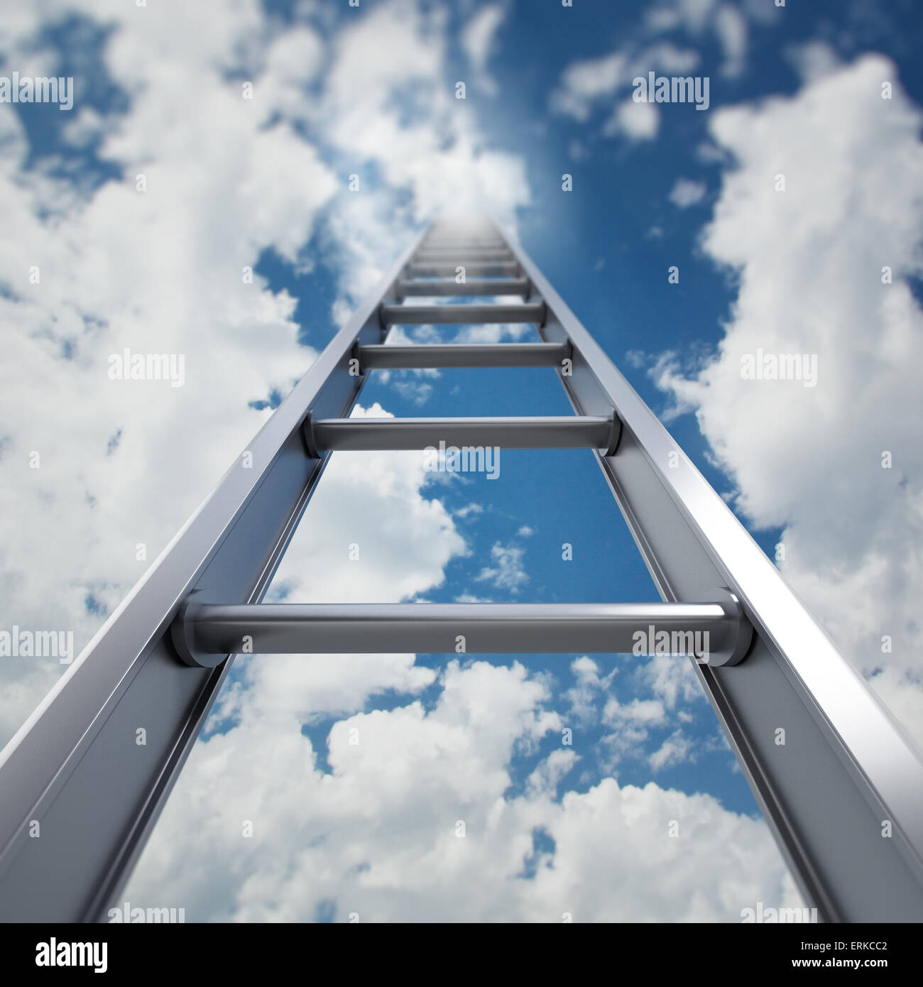 Ladder to the sky - Stock Image