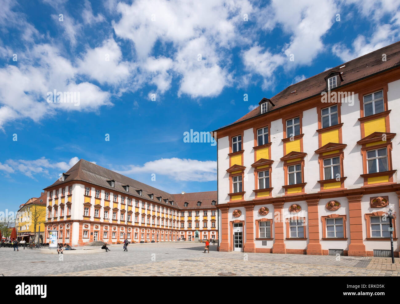 Courtyard of the old castle, historic centre, Bayreuth, Upper Franconia, Franconia, Bavaria, Germany - Stock Image