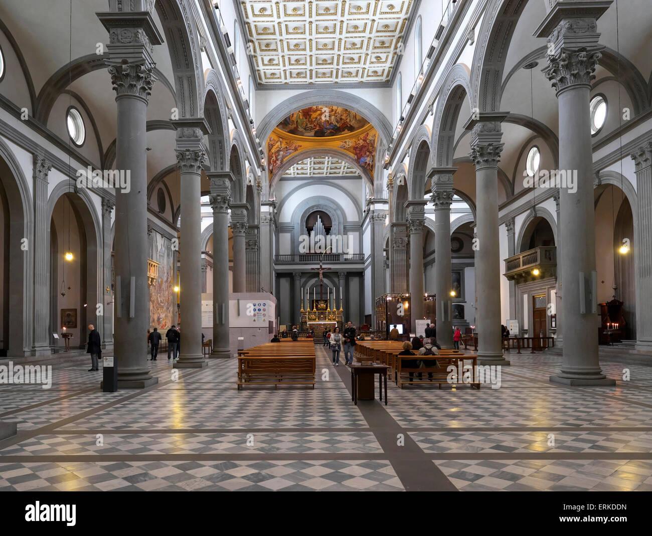basilica di san lorenzo, florence, tuscany, italy stock photo