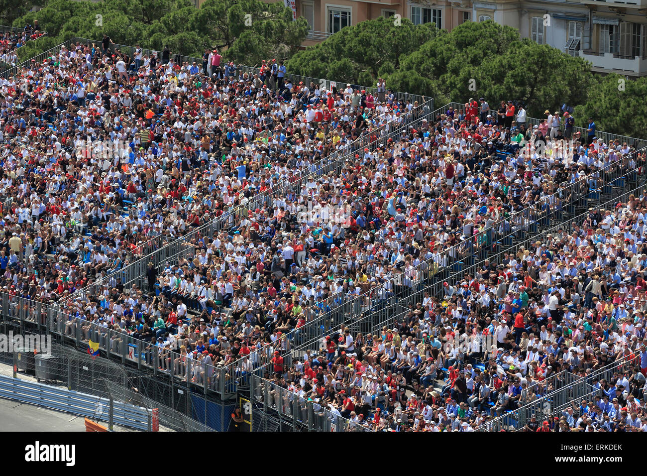 Grandstand at Port Hercule, Formula 1 Grand Prix Monaco 2015, Principality of Monaco - Stock Image