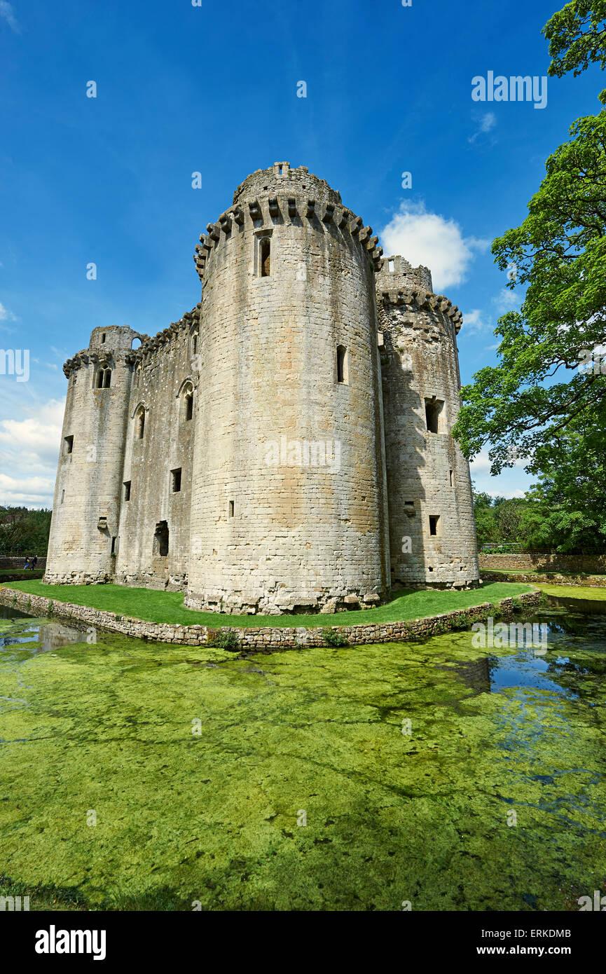 Nunney Castle built in the 1370s by Sir John de la Mere, Somerset, England, United Kingdom Stock Photo
