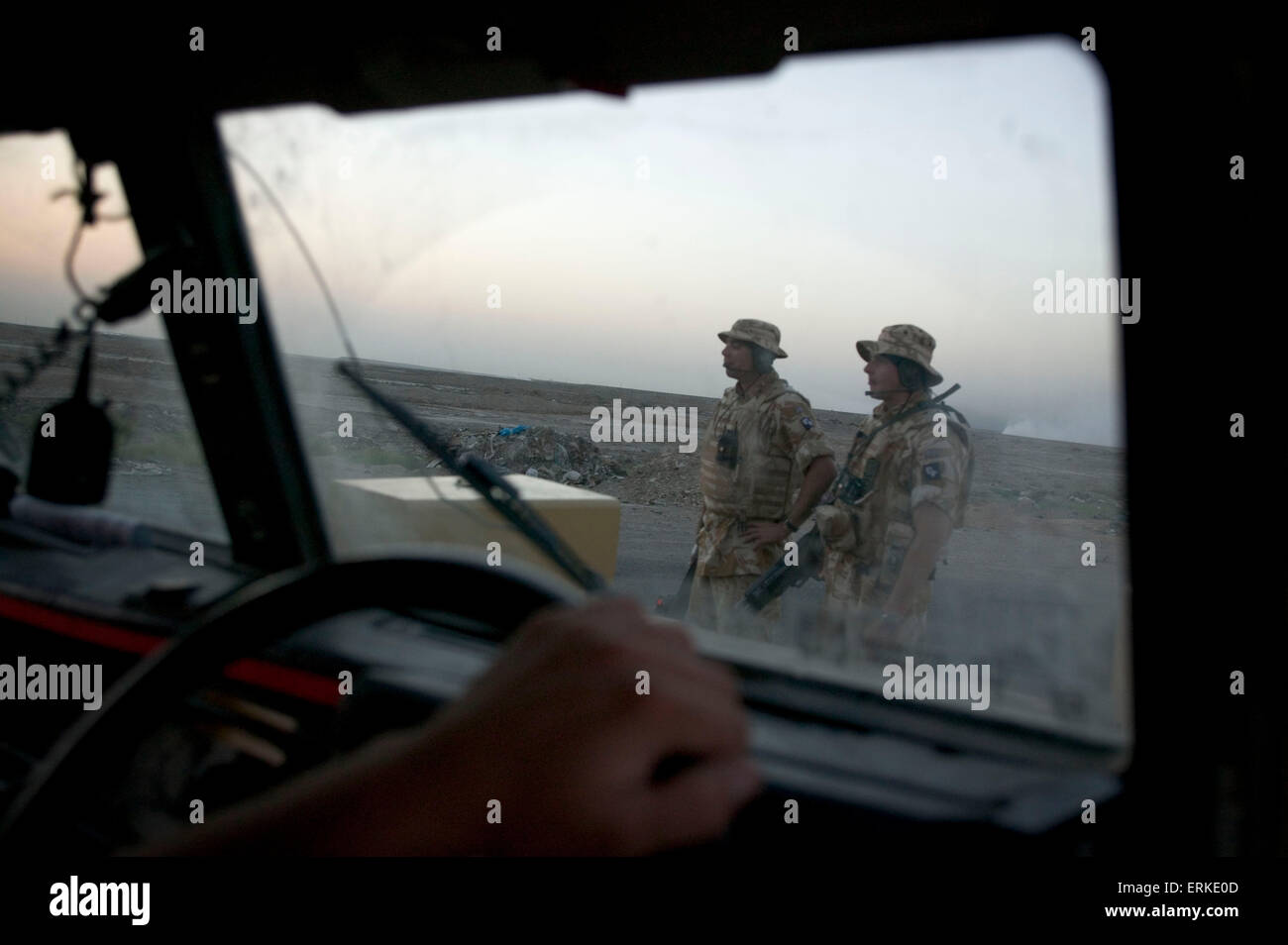 British Forces in Iraq.  Members of the 1st Battalion Devonshire and Dorset Light Infantry on patrol near Basra, Southern Iraq.      Credit: Gary Calton / eyevine  For further information please contact eyevine tel: +44 (0) 20 8709 8709 e-mail: info@eyevine.com www.eyevine.com Credit: Gary Calton / eyevine  For further information please contact eyevine tel: +44 (0) 20 8709 8709 e-mail: info@eyevine.com www.eyevine.com Stock Photo