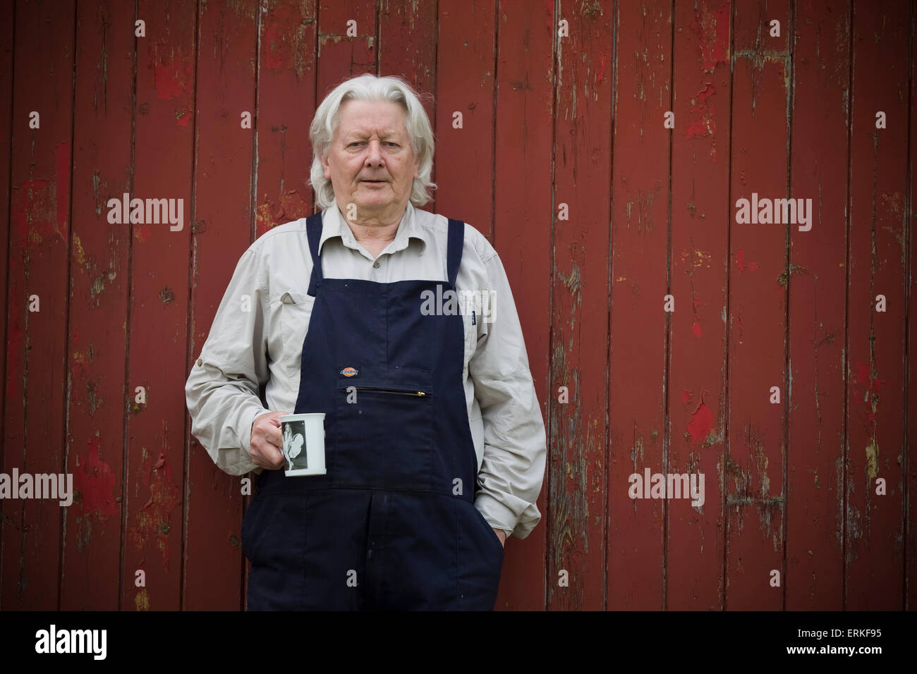 Investigative journalist Andrew Jennings, pictured at his home on a farm in Inglewood, near Penrith in Cumbria. - Stock Image