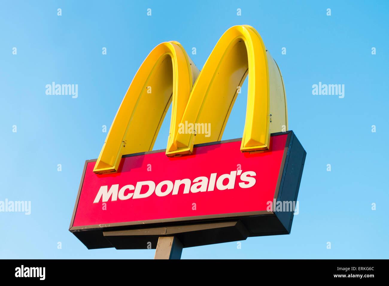 McDonalds sign, UK. - Stock Image