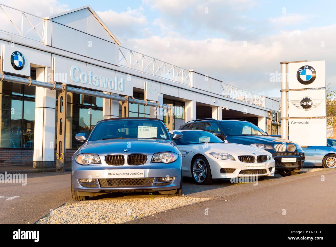 Cotswold BMW car dealership in Cheltenham, UK. - Stock Image