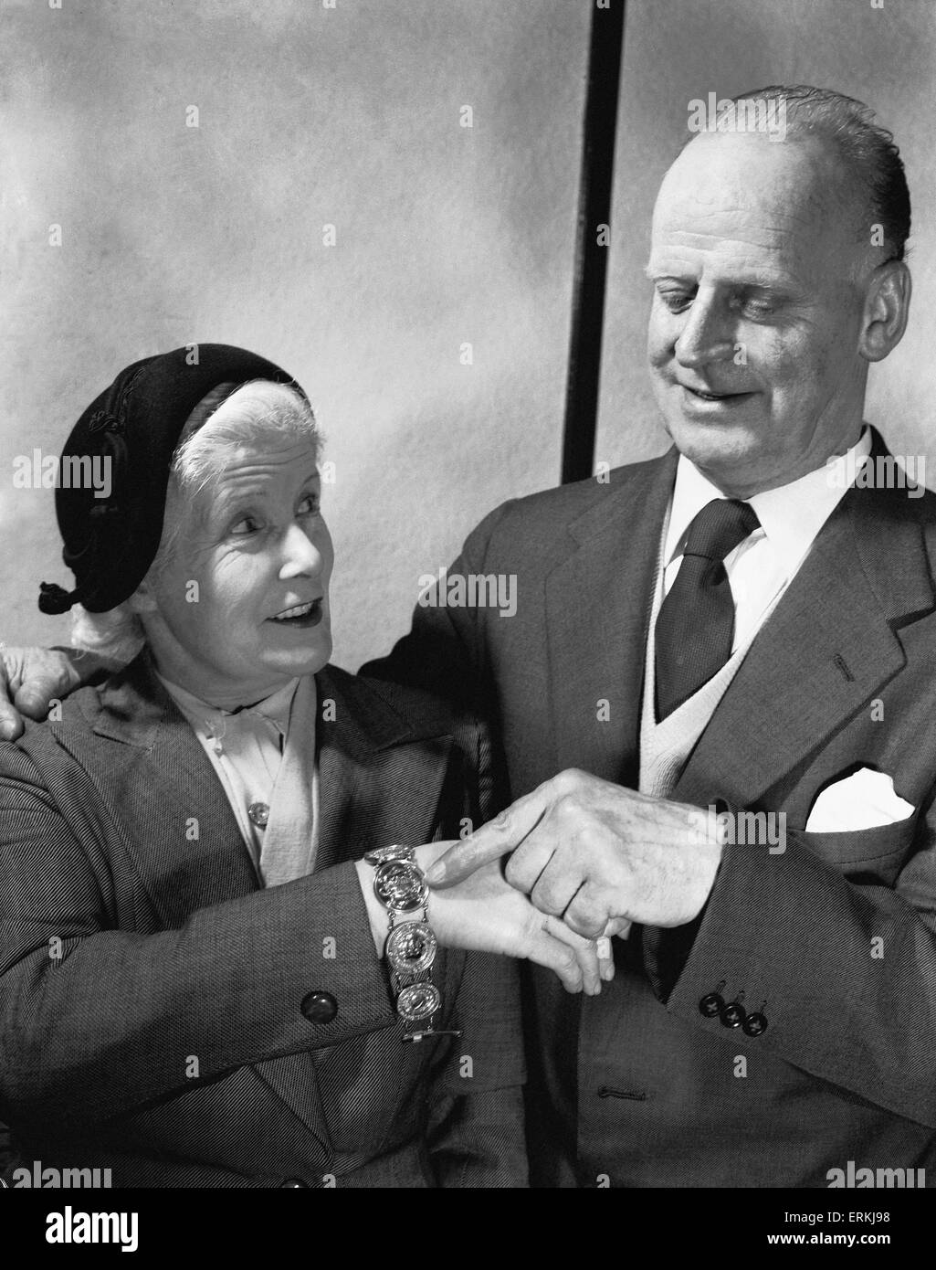 Forest manager Billy Walker has had his gold medals made into a bracelet for his wife. Here he points out the FA - Stock Image