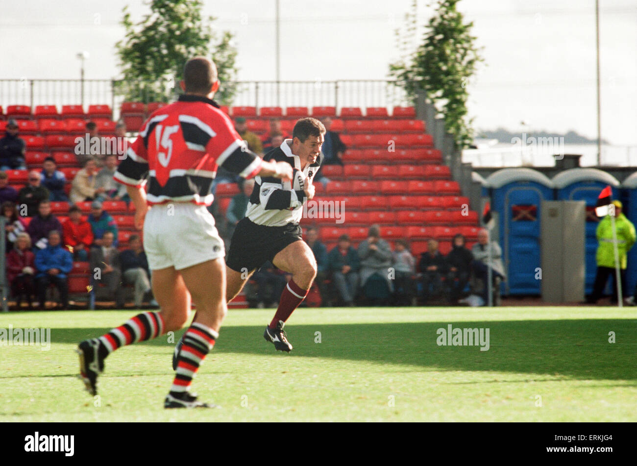 Forthbank Stadium, 26th September 1995. Gavin Hastings makes his last big-game appearance. He will quit as an international - Stock Image
