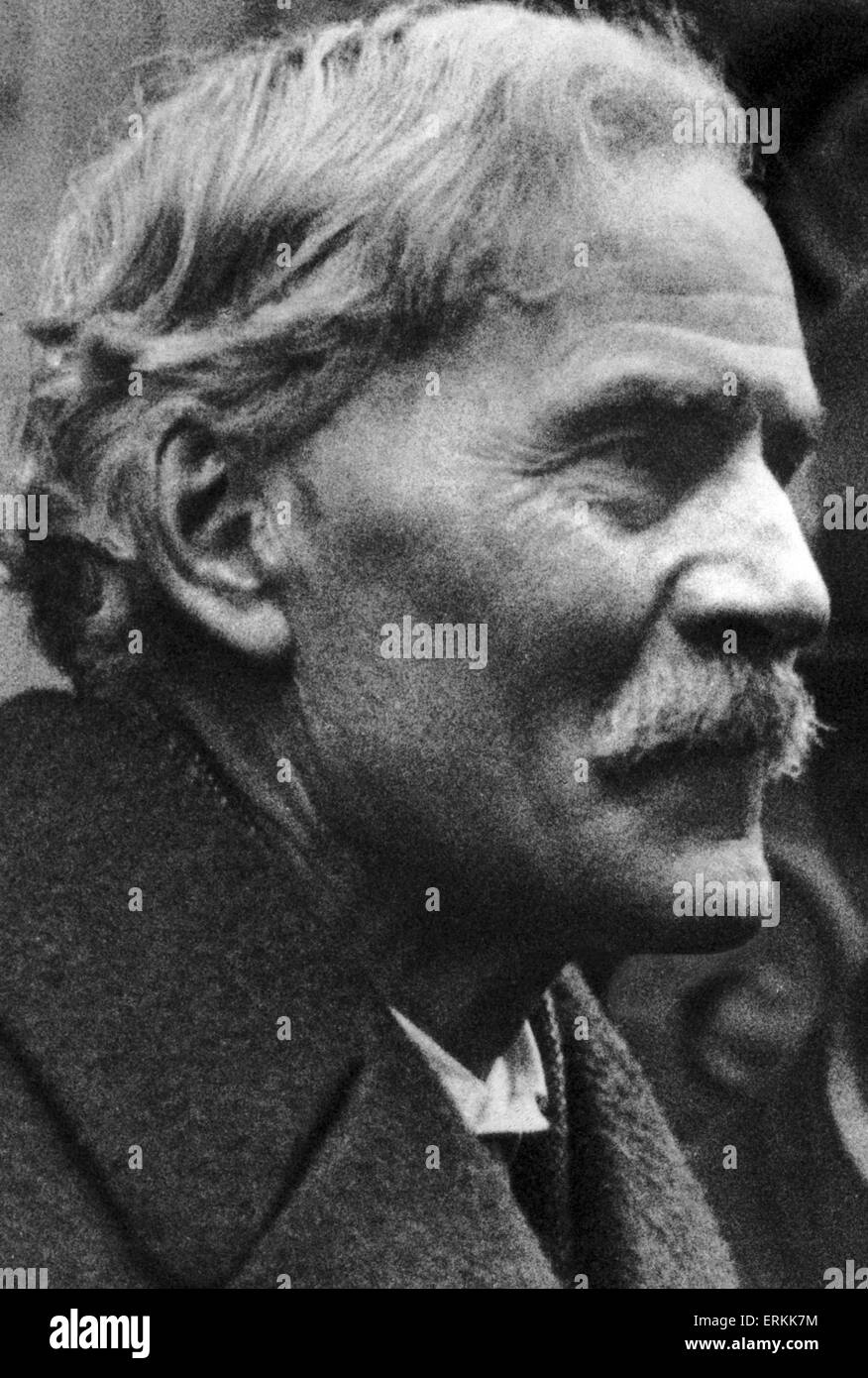 James Ramsay MacDonald was a British statesman who was the first ever Labour Prime Minister of the United Kingdom, - Stock Image