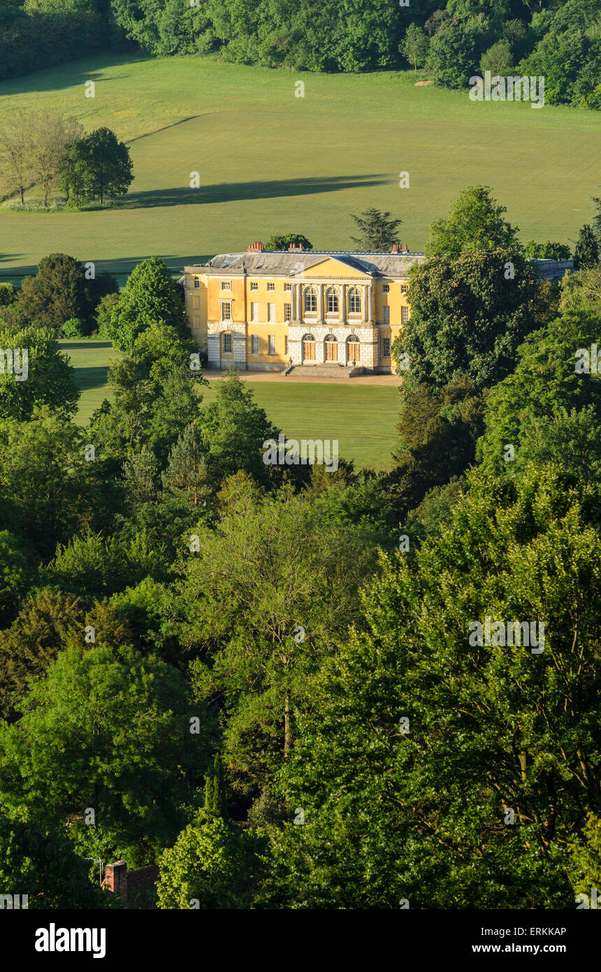 West Wycombe House. Built in the 18th Century, Grade1 Listed Building, home of The Dashwood Family, owned by The - Stock Image