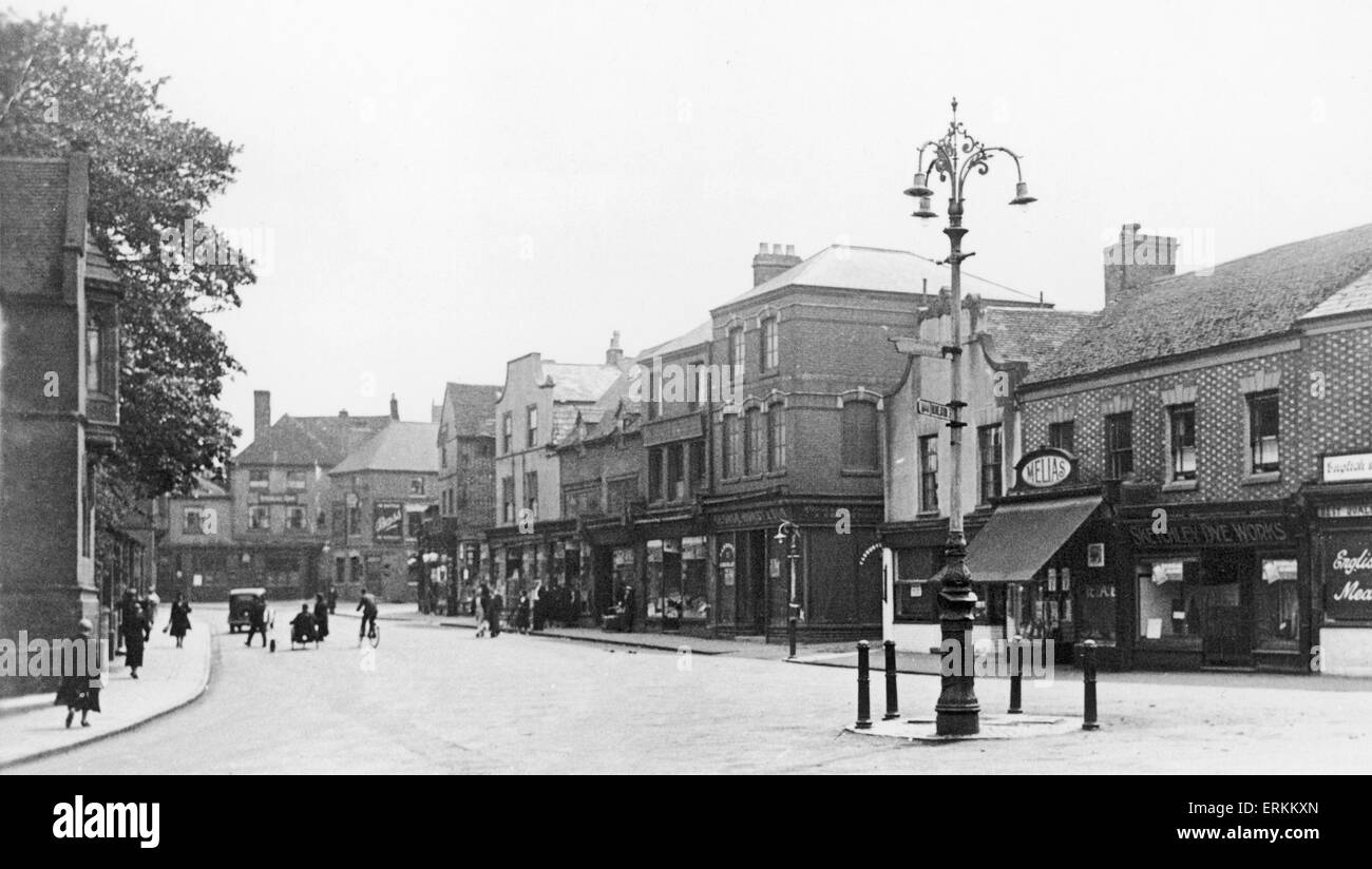 Bedworth Market Place circa 1920 - Stock Image