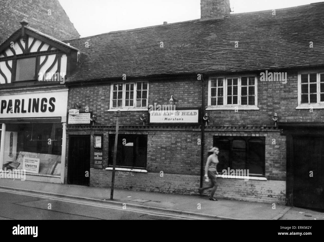 The Kings Head Hotel in Bedworth 27th October 1971 - Stock Image