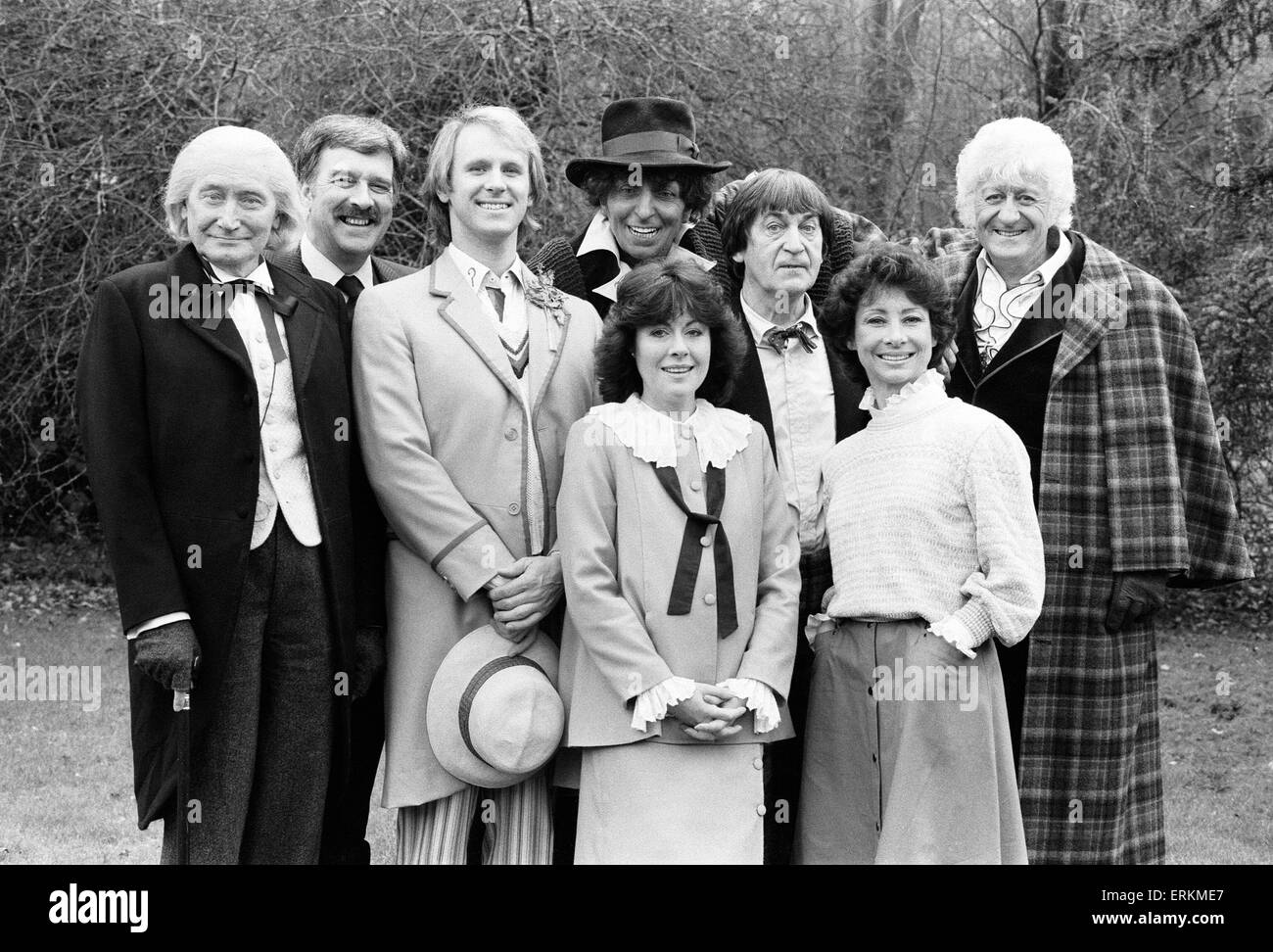 Photocall for special 90 minute Doctor Who episode titled 'The Five Doctors' which will celebrate 20 years - Stock Image