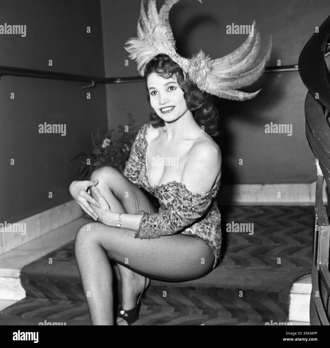 Premiere of Cowboy at Odeon Leicester Square. Actress Yvonne Buckingham, aged 19. 24th January 1958. - Stock Image