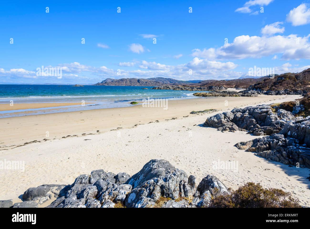Singing sands, beach, Kentra, Ardnamurchan Peninsula, Lochaber, Highlands, Scotland - Stock Image