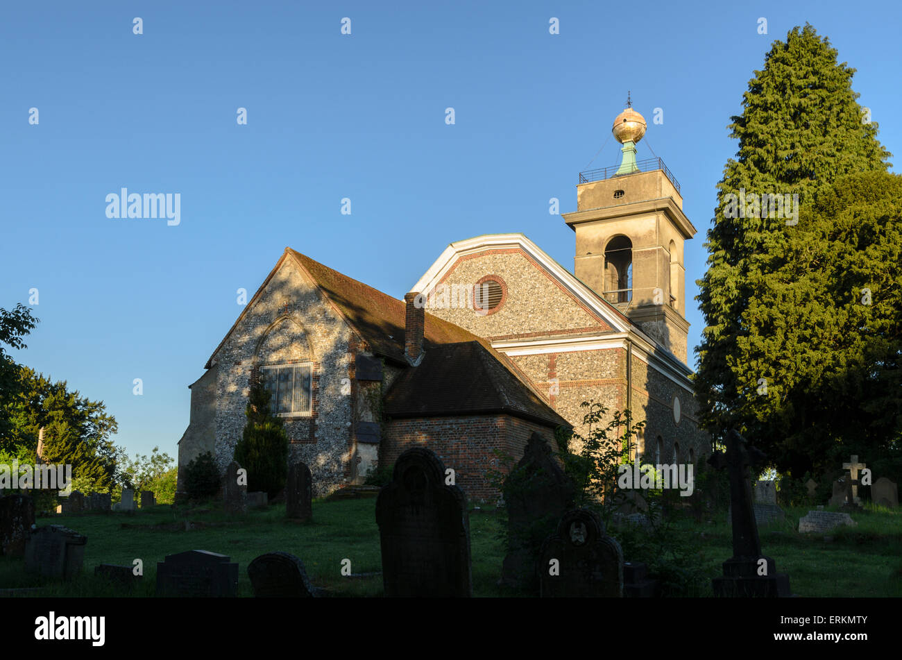 St Lawrence Church, West Wycombe, Buckinghamshire. Reputed to have be the meeting place for the notorious Hellfire - Stock Image