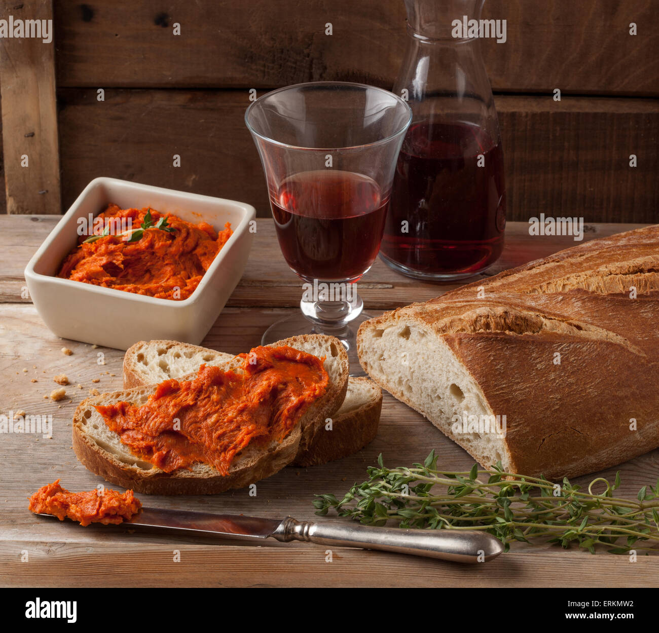 Mediterranean meat spread - Stock Image