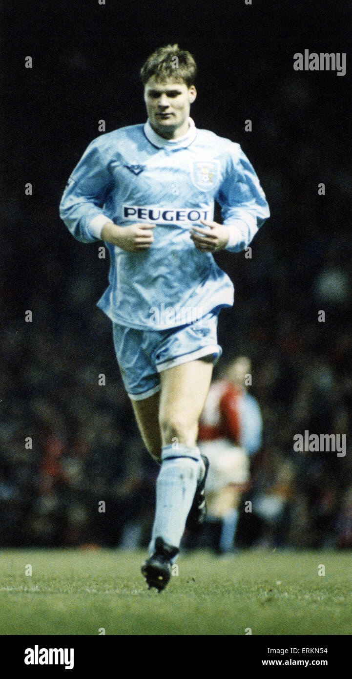 Steven Pressley, Coventry City Football Player, centre back, leaves pitch after being sent off at Old Trafford, - Stock Image