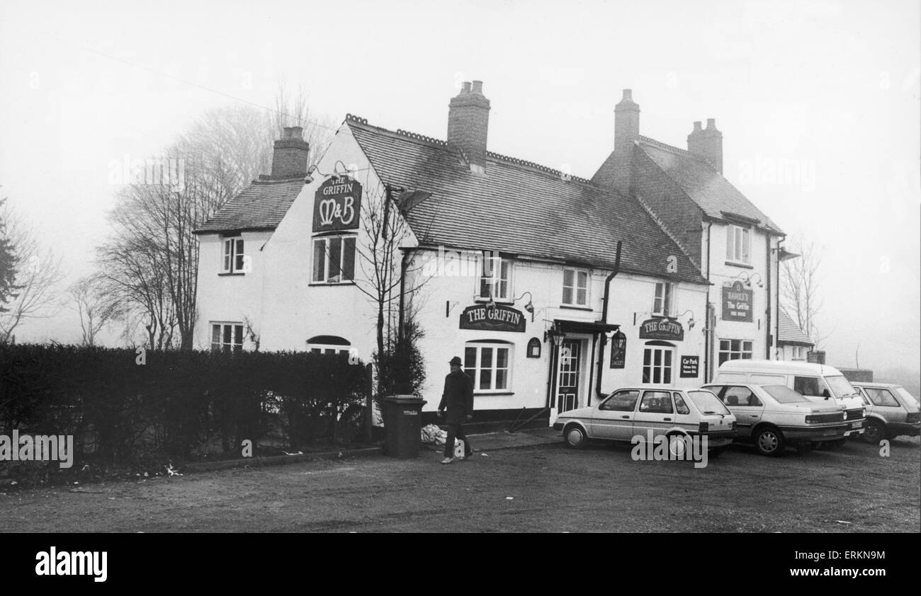The Griffin public house in Bedworth which dates back well over 300 years. According to records, a certain William - Stock Image