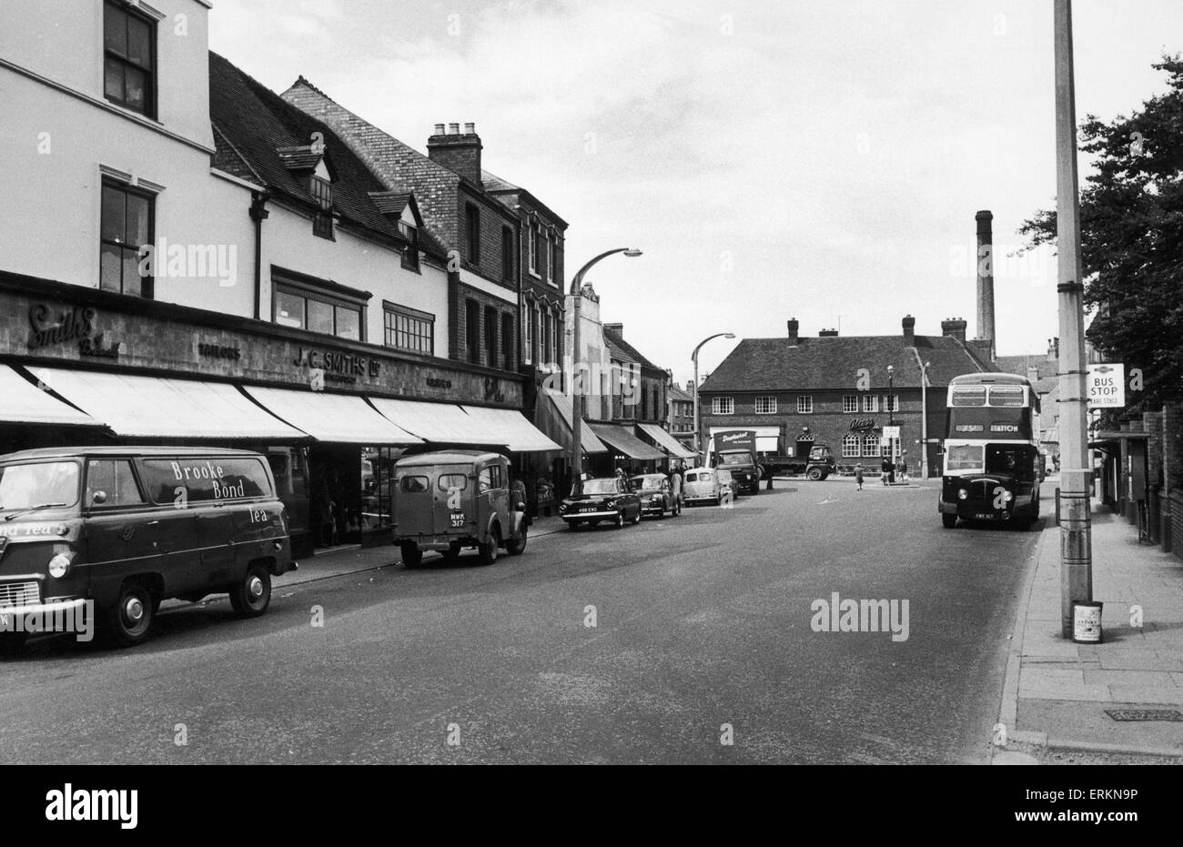J C Smiths in Market Street Bedwort. 6th August 1966 - Stock Image