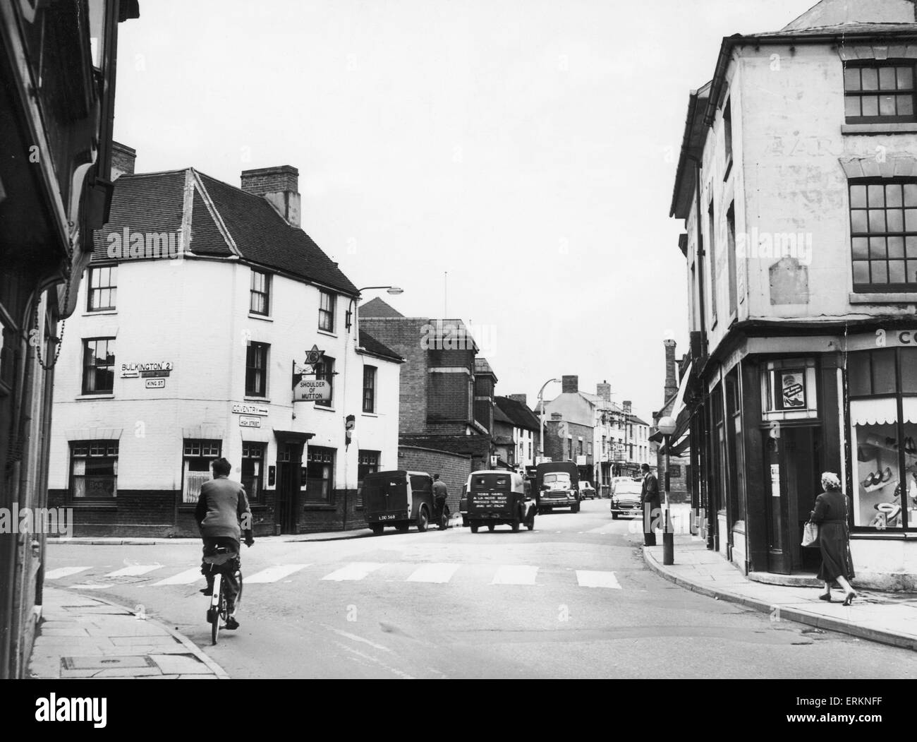 The High Street Bedworth 16th May 1958 - Stock Image