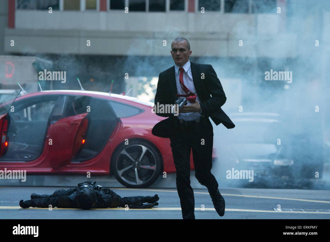 HITMAN: AGENT 47 (2015)  RUPERT FRIEND  ALEKSANDER BACH (DIR) - Stock Image