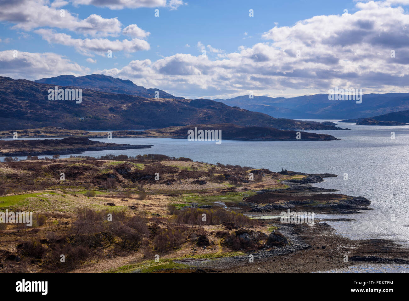 Loch Sunart, Ardnamurchan Peninsula, Lochaber, Highlands, Scotland - Stock Image
