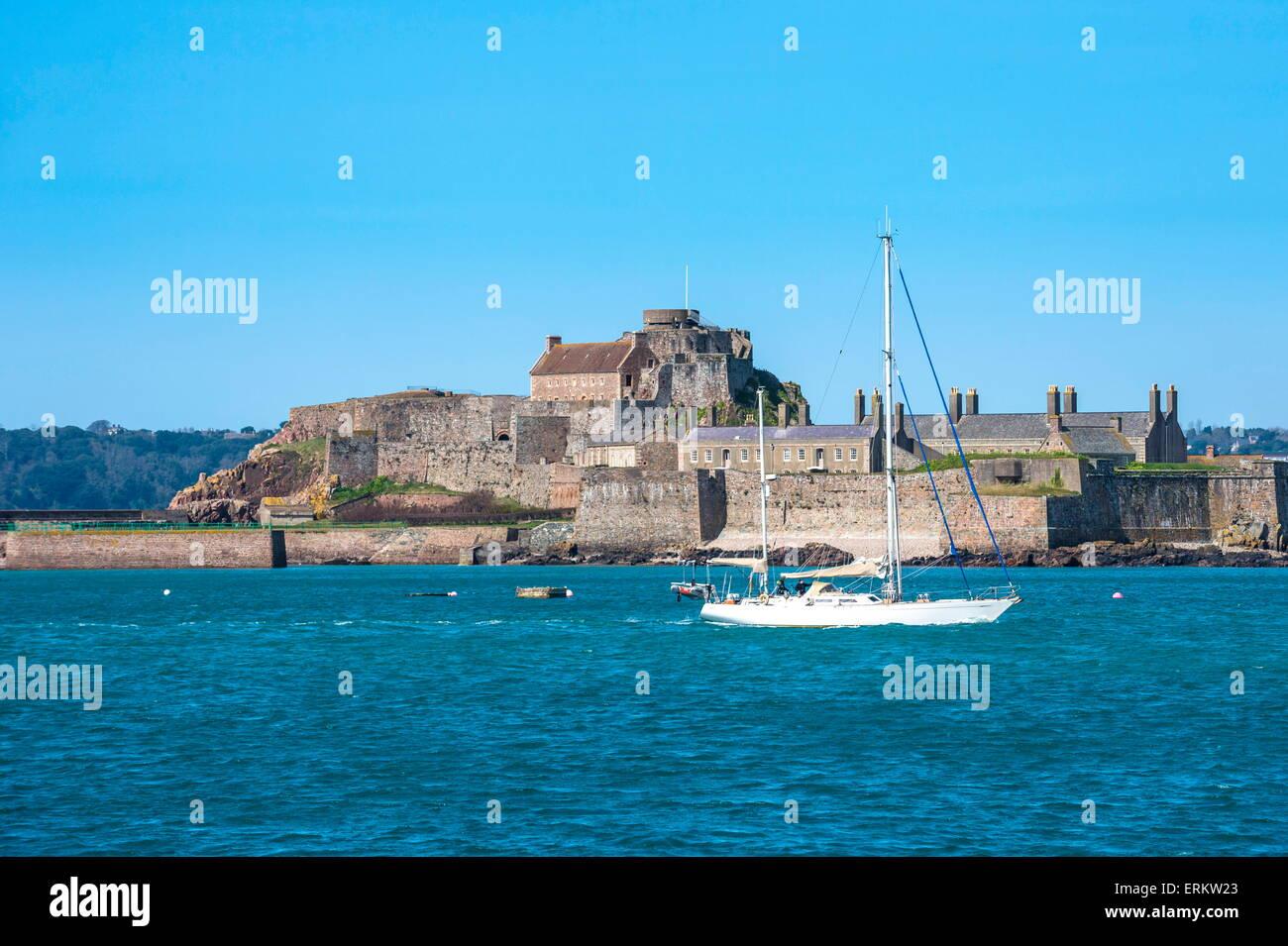 Elizabeth Castle, St. Helier, Jersey, Channel Islands, United Kingdom, Europe - Stock Image