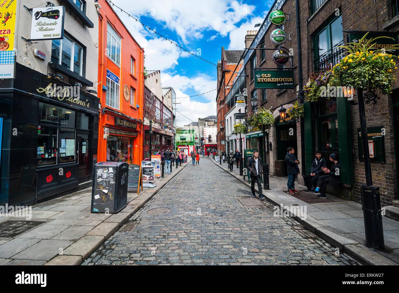 Hip shops in Temple Street pedestrian zone, Dublin, Republic of Ireland, Europe - Stock Image