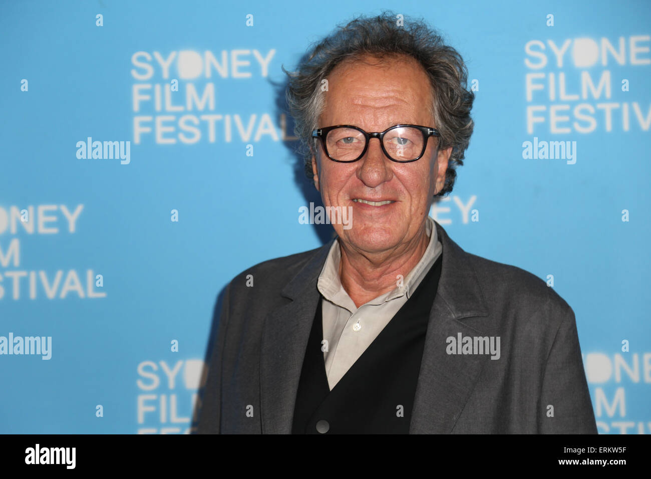 Sydney, Australia. 4 June 2015. Pictured: Actor Geoffrey Rush. Celebrities arrived on the red carpet for the Sydney - Stock Image