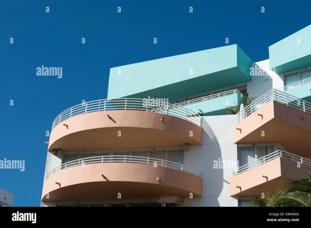 Ocean Drive, South Beach, Miami Beach, Florida, United States of America, North America - Stock Image