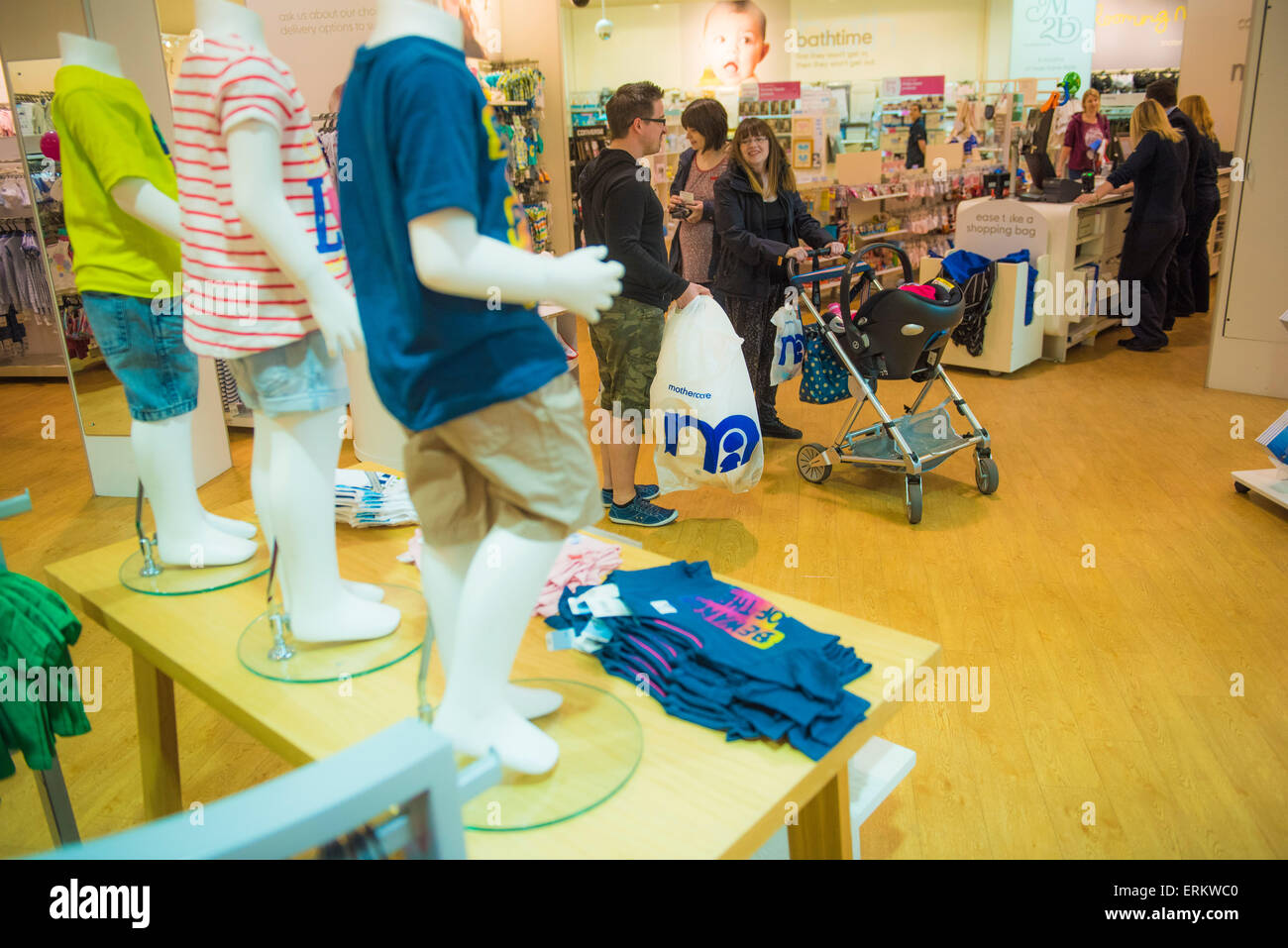 Mothercare @ Serpentine Green Shopping Centre, Peterborough PE7 8BE. The site is owned by British Land PLC - Stock Image