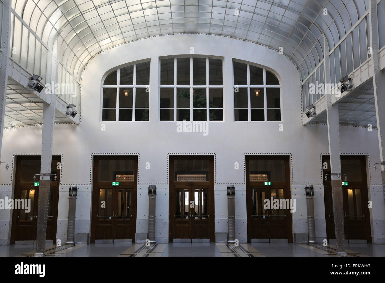 Hall. Postal Office Savings Bank Building by Otto Wagner, Vienna, Austria, Europe Stock Photo