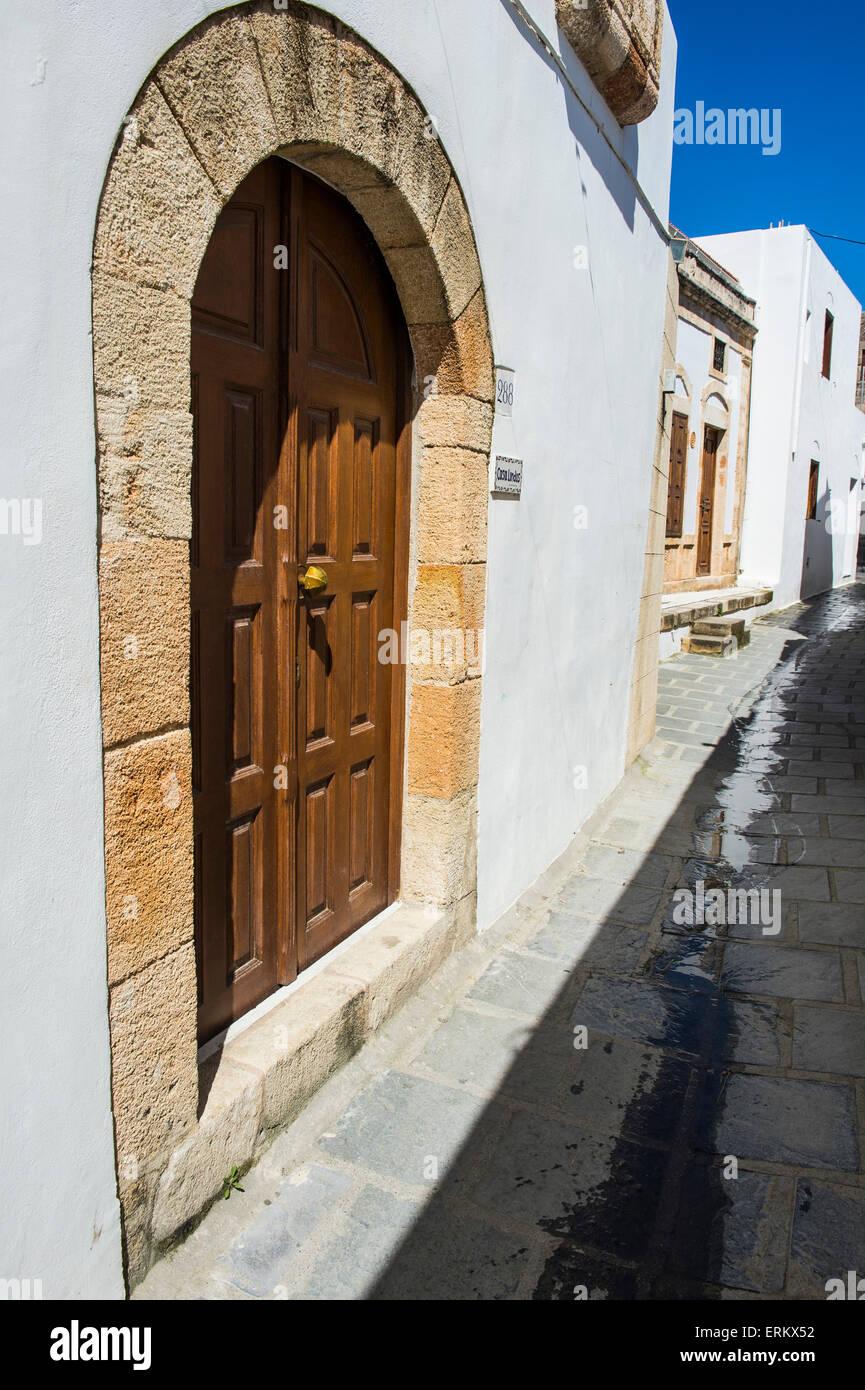 Lindos, Rhodes, Dodecanese Islands, Greek Islands, Greece, Europe - Stock Image