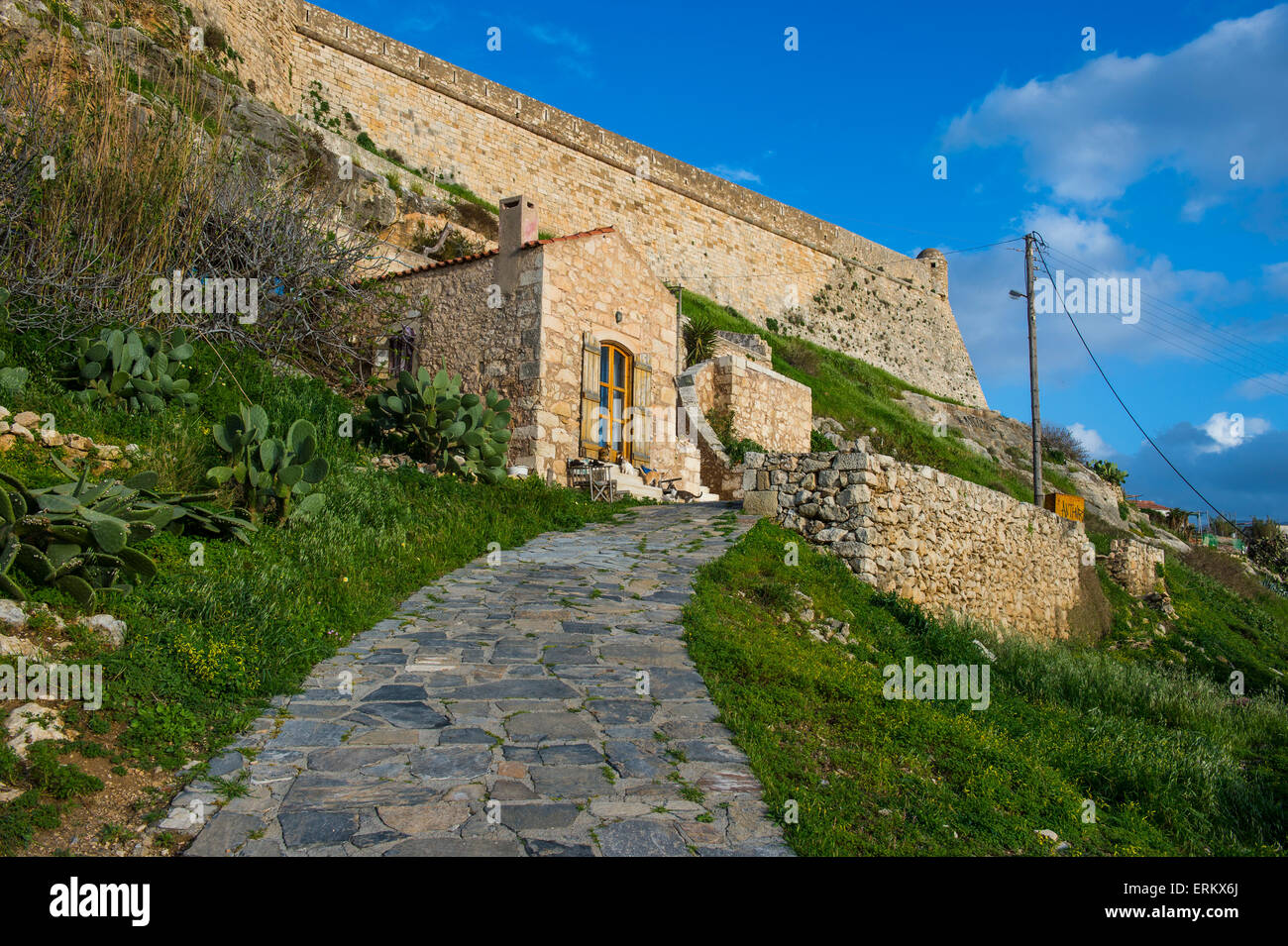 The Fortezza, fortress in Rethymno, Crete, Greek Islands, Greece, Europe Stock Photo