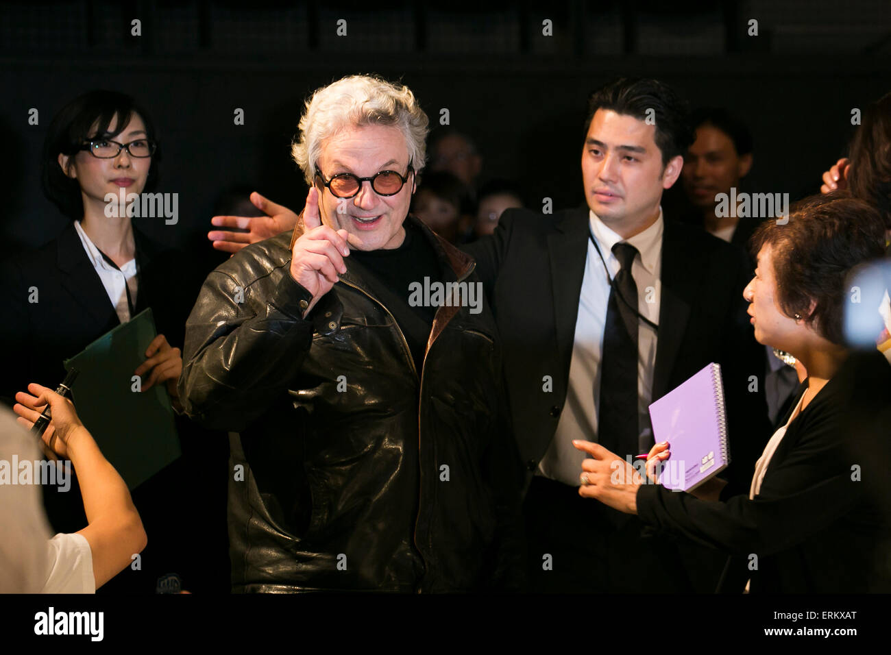 Australian film director George Miller attends the Japan premiere for the film ''Mad Max: Fury Road'' - Stock Image