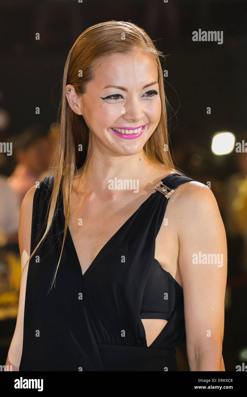 Anna Tsuchiya singer, actress and fashion model attends the Japan premiere for the film ''Mad Max: Fury - Stock Image