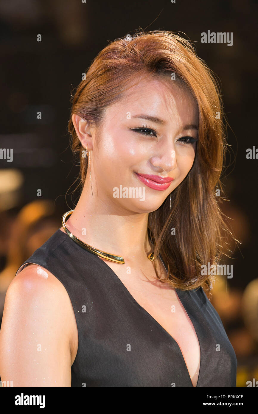 Maryjun Takahashi fashion model and actress attends the Japan premiere for the film ''Mad Max: Fury Road'' - Stock Image