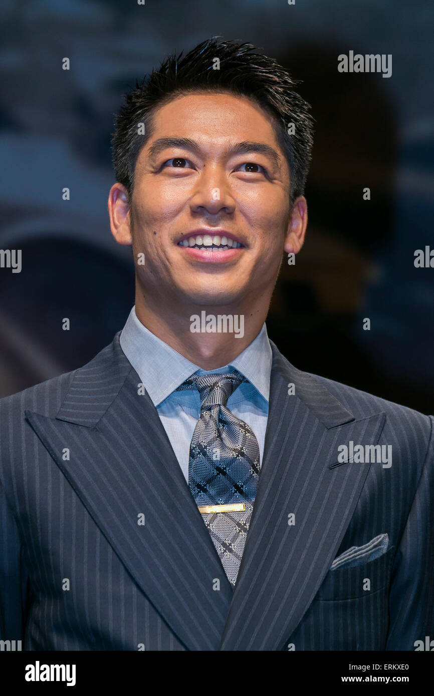 Akira actor and dancer of EXILE attends the Japan premiere for the film ''Mad Max: Fury Road'' in - Stock Image