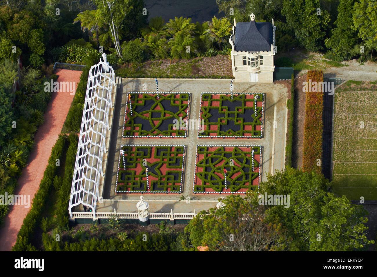 Tudor Gardens, Hamilton Gardens, Hamilton, Waikato, North Island ...