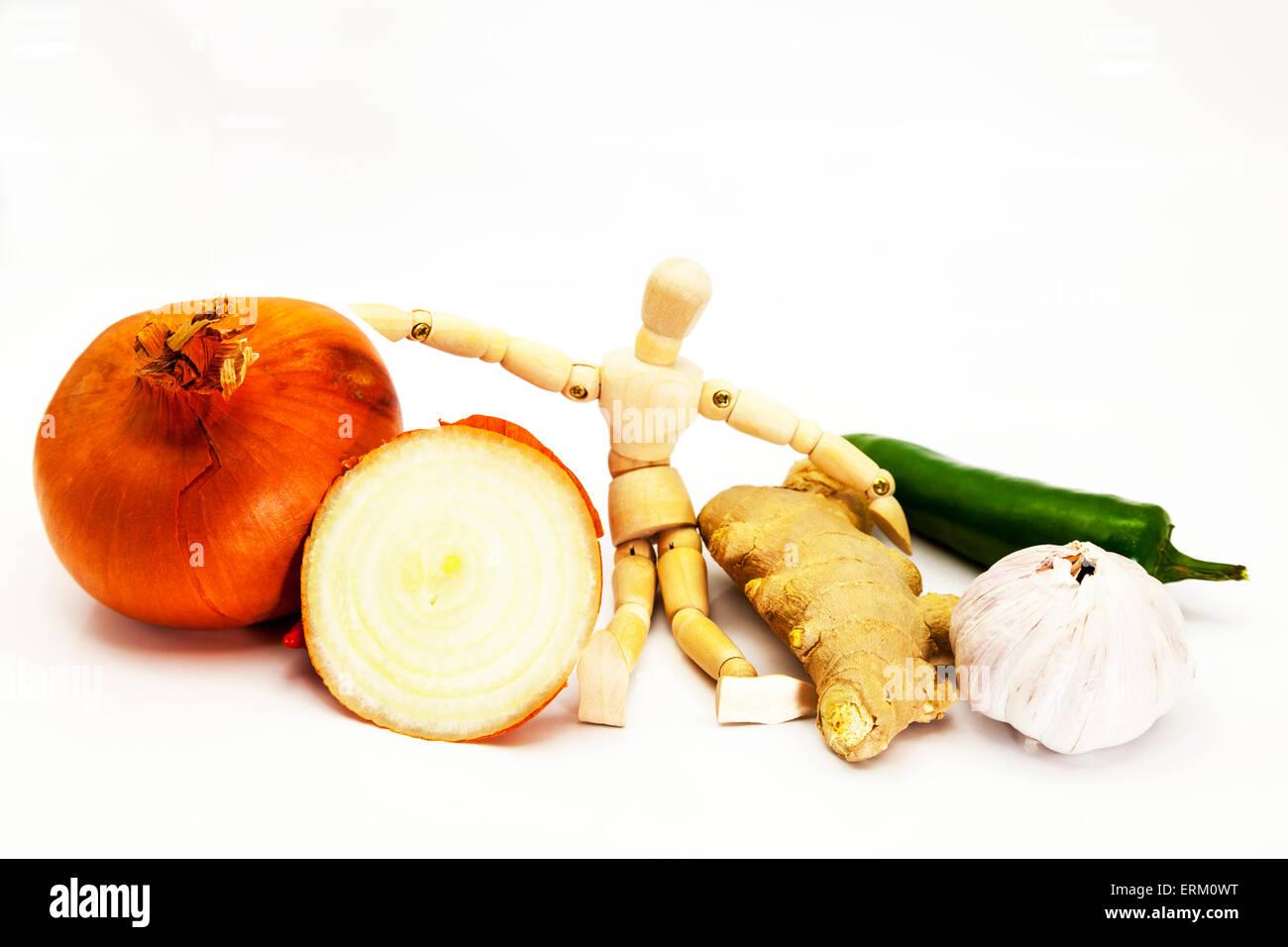 garlic ginger chili onion flavour flavouring food heathy fresh spice