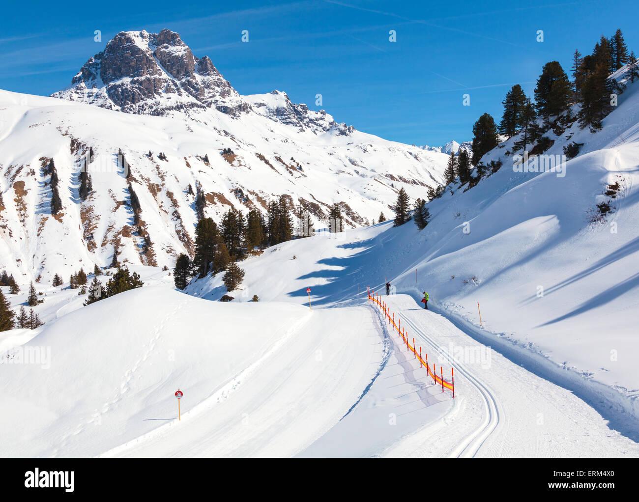 Ski run - Stock Image