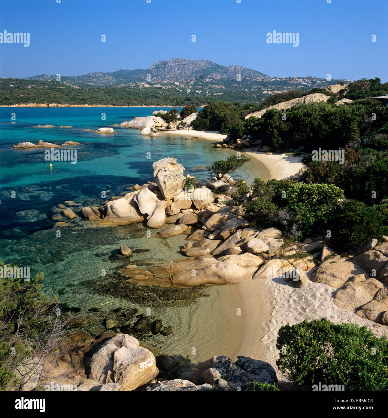 Beach view, Capo Capaccia, Costa Smeralda, Sardinia, Italy, Europe - Stock Image