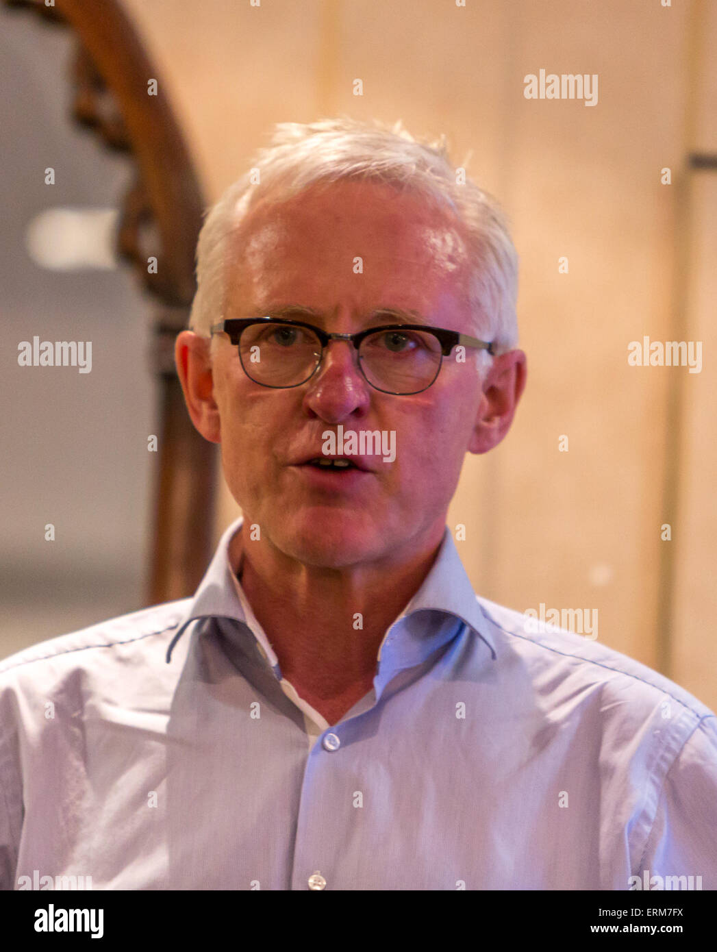 Norman Lamb on his bid for leadership of the Liberal Democrats - Stock Image